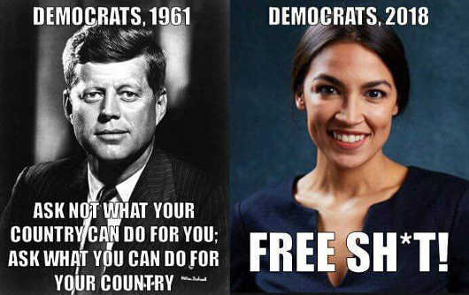 democrats-jfk-kennedy-ask-not-what-your-country-can-do-vs-today-socialist-free-shit
