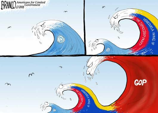 venezuela-wing-democrat-party-gop-blue-wave