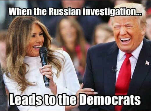 when-the-russian-investigation-leads-to-democrats-melanie-donald-trump-laughing