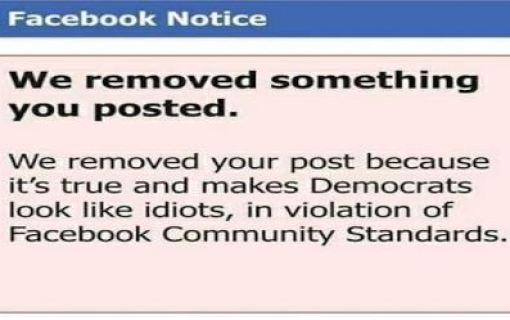 facebook-weve-removed-that-because-its-true-and-makes-democrats-look-like-idiots-community-standards-violation