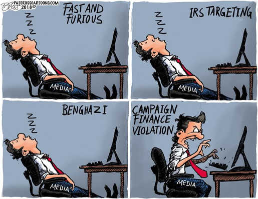 media-fast-furious-bengazi-irs-targeting-sleeping-obama-awake-for-campaign-finance-violation