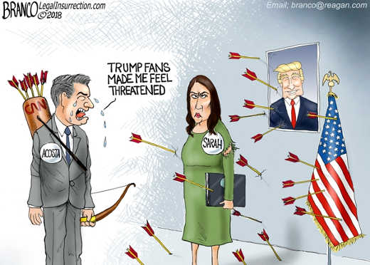 trump-fans-made-me-feel-threatened-jim-acosta-crying-to-sarah-sanders-arrows