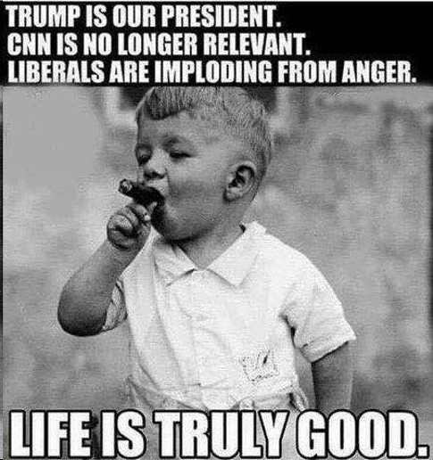trump-is-president-cnn-irrelevant-liberals-imploding-life-is-good-baby-with-cigar