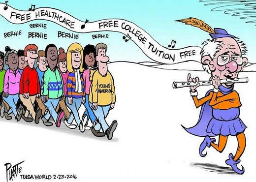 bernie-pied-piper-free-education-healthcare-college-students-follow