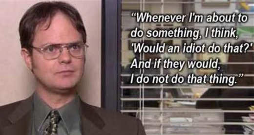 dwight-office-when-about-to-do-something-would-idiot-do-if-not-i-dont