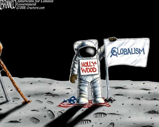hollywood-land-on-moon-no-us-flag-communist-globalism