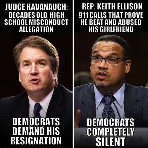 judge-kavanaugh-decades-old-school-allegation-demand-resignation-keith-ellison-911-calls-completely-silent