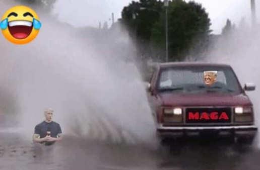 trump-maga-car-splashing-anderson-cooper-fake-news-cnn