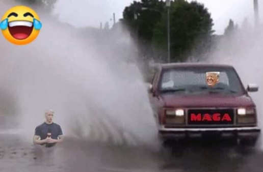 trump-maga-car-splashing-anderson-cooper-fake-news-cnn