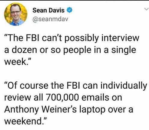 fbi-cant-possibly-interview-all-kavanaugh-witnesses-in-week-but-can-review-700000-weiner-emails-in-weekend