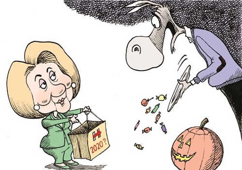 hillary-clinton-2020-trick-or-treating-democrats