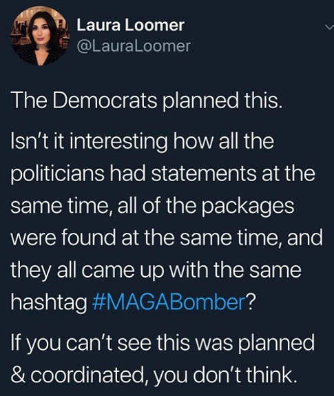 laura-loomer-democrats-planned-maga-bomber-same-time-statements-hashtag