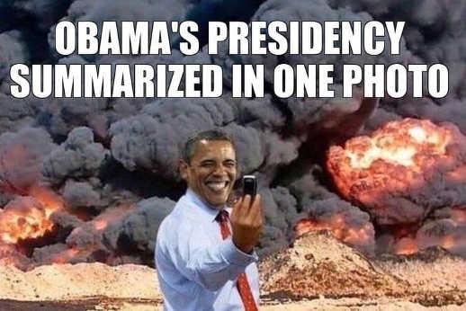 obama-presidency-in-one-picture-burning-taking-selfie