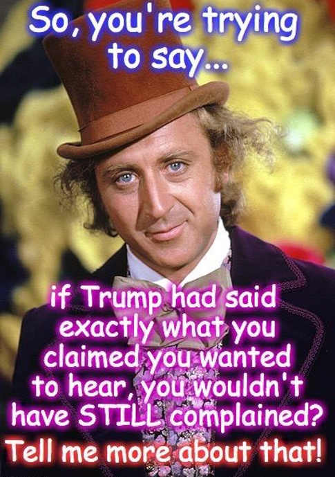 so-youre-trying-to-say-if-trump-said-exactly-what-you-wanted-to-hear-you-wouldnt-still-complain-willy-wonka