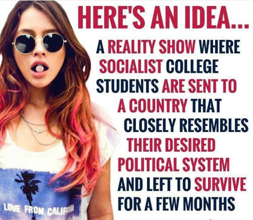 heres-reality-show-idea-those-support-socialism-must-survive-in-socialist-country
