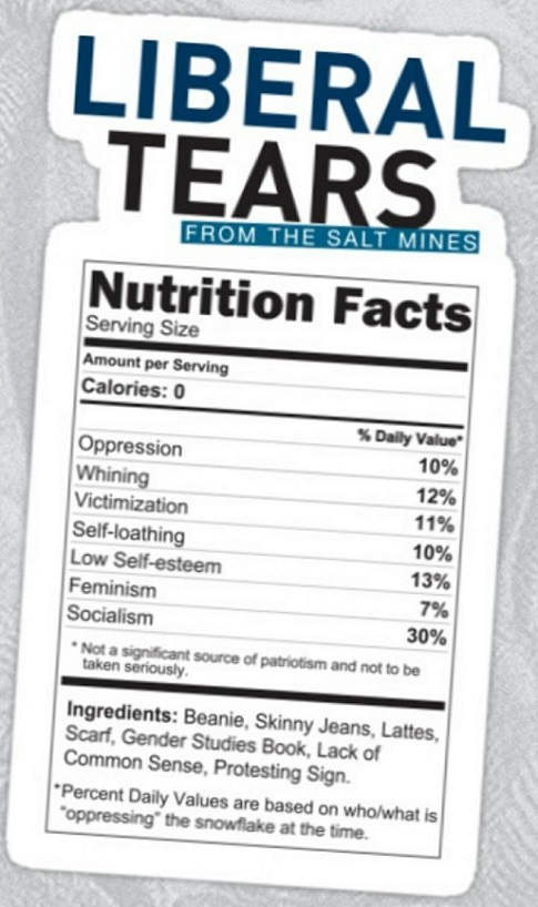 liberal-tears-nutrition-facts-whining-crying-lattes-skinny-jeans-socialism-fascism