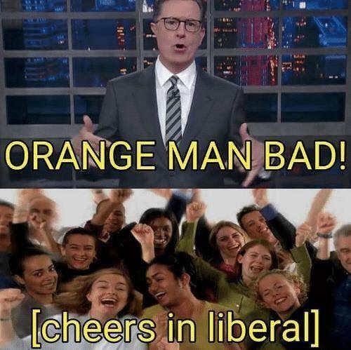 stephen-colbert-orange-man-bad-cheers-in-liberal