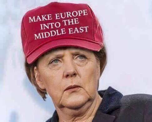 angela merkel make europe into the middle east