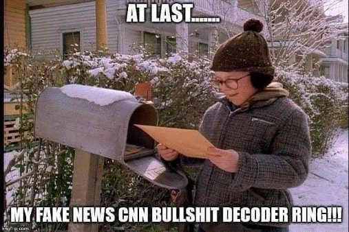 at last fake news cnn bullshit decoder ring raphie mailbox