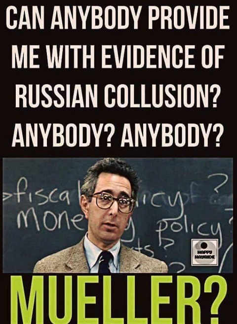 can anybody provide evidence of russian collusion anyone mueller