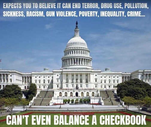 congress wants to believe it can end poverty racism inequality sicknes cant even balance checkbook