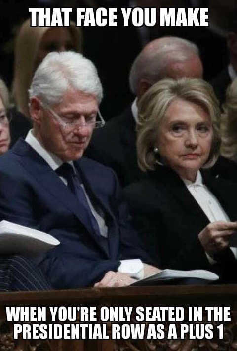 hillary that face you make when youre only seated in the presidential row as a plus 1
