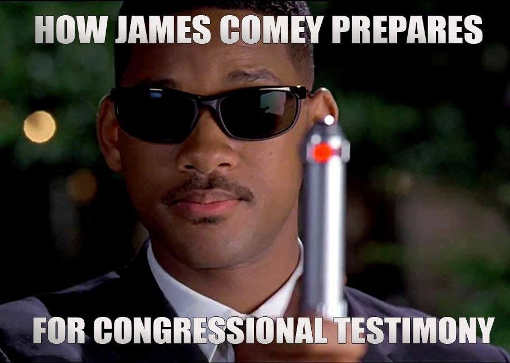 how james comey prepares for congressional testimony men in black neurolyzer