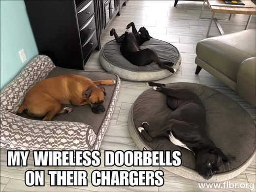 my wireless doorbells on their chargers
