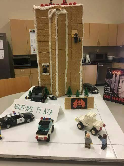 nakatomi plaza christmas decoration gingerbread house legos