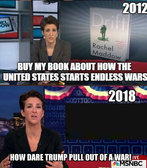 rachel maddow buy my book about us endless wars how dare trump pull out of syria