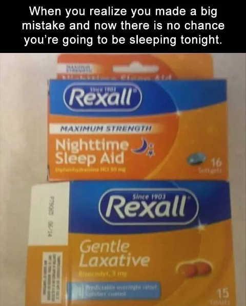 rexall nighttime sleep aid gentle laxative similar packaging