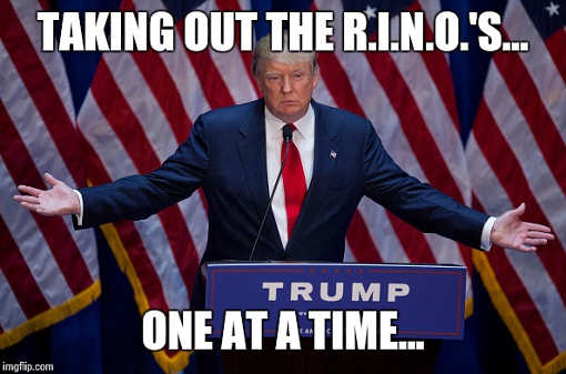 trump taking out rinos one at a time