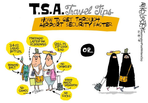 tsa rules for getting through checkpoints follow list of rules or dress in burqas