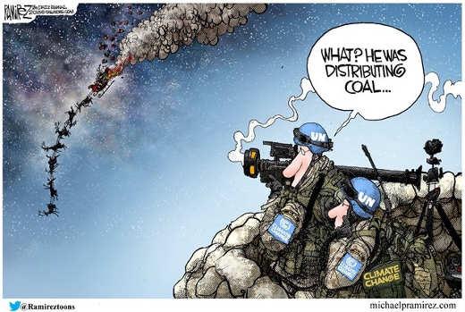 un soldiers shooting down santa destributes coal