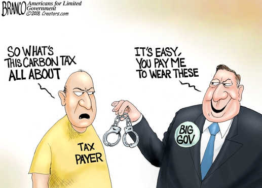 whats a carbon tax about taypayer you pay big government to wear handcuffs