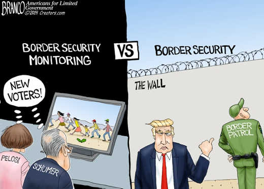 border security monitoring pelosi schumer new voters trump wall border security