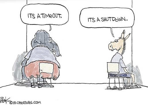 democrats republicans its a timeout sitting in corner