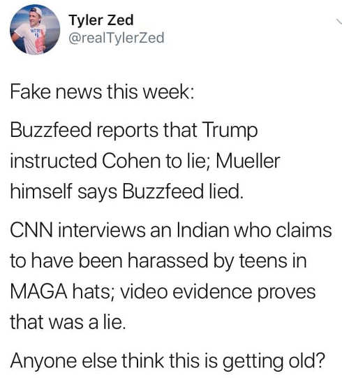 fake news this week buzzfeed indian maga confrontation anyone else think this is getting old