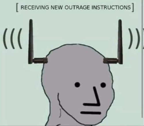 liberals receiving new outrage instructions