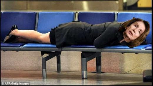 nancy pelosi sleeping at airport