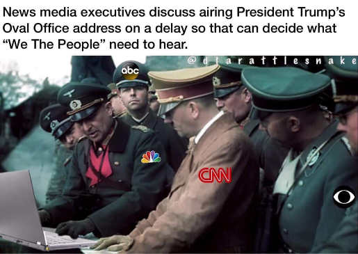 news media executives discussing trump speech what we need to hear