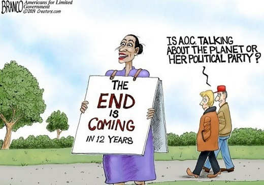 ocasio cortez end is near 12 years world or her party