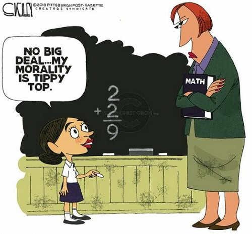 ocasio cortez no biggie on math my morality is tippy top