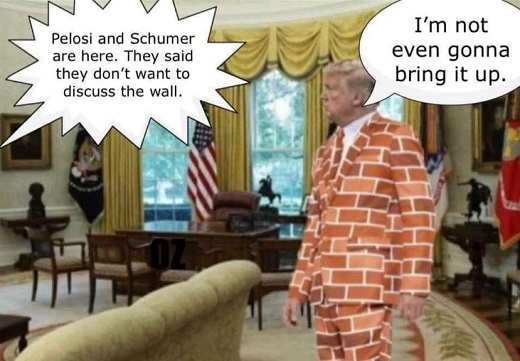 pelosi schumer here dont want to discuss wall trump not going to bring up brick suit