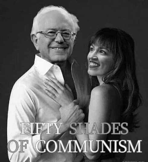 50 shades of communism bernie sanders ocasio cortez