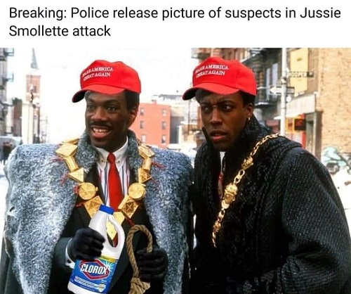 breaking police release pictures of suspects in jussie smollette attack eddie murphy arsonio hall coming to america