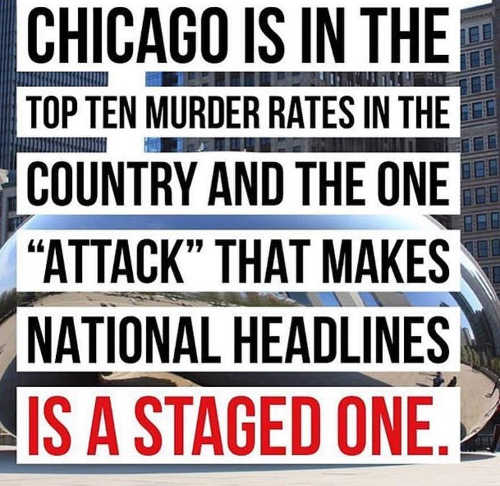 chicago high murder rate but attack that makes national headlines is staged one