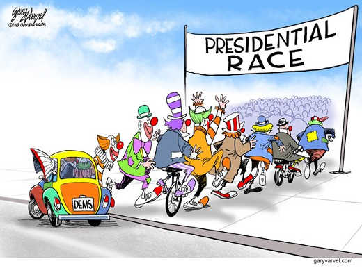 democrats presidential race clown car