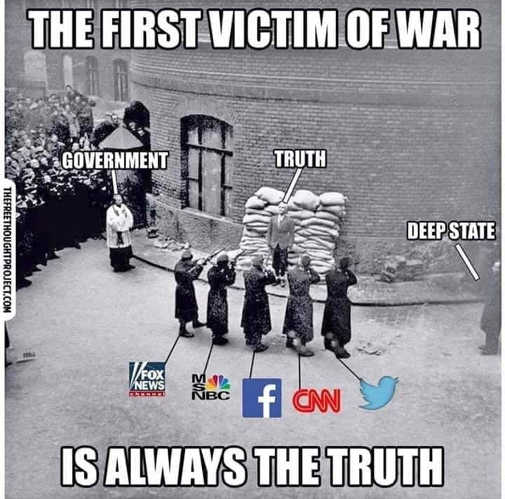 first victim of war is truth cnn msnbc cnn facebook government deep state