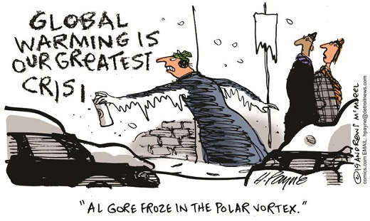 global warming is our greatest crisis al gore froze in the polar vortex